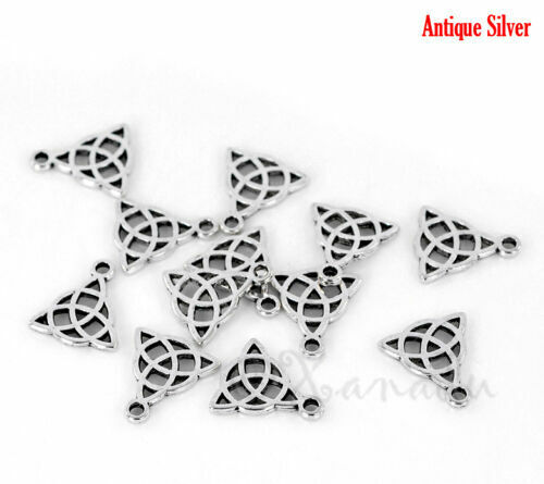 Celtic Trinity Knot Charms 15mm Silver Plated Pendants C5581-10 20 Or 50PCs