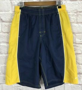 17fedad6ef Nike Mens Swim Trunks M Lined Board Shorts Navy Yellow Bathing Suit ...