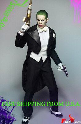 ❶USA IN STOCK❶1//6 Joker Jared Leto Tuxedo Suit Set 2.0 AK47 Suicide Squad Batman