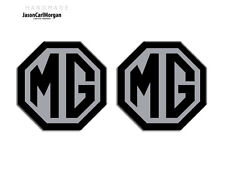 MG TF LE500 70mm Badge Insert Set Front Grill Rear Boot  MG Logo Black/Silver