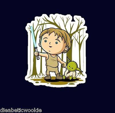 Star Wars Luke Yoda jedi lightsaber Sticker decal car laptop scrapbooking