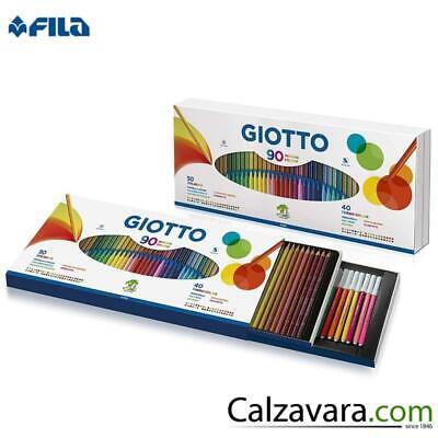 Fila Giotto Ovp 90 Farben 50 Buntstifte Stilnovo + 40 Filzstifte Turbo Color | eBay