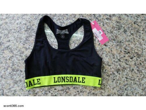 LODPE17265-BLA Black Cod.Art Lonsdale Top Fitness,Donna//Ragazza