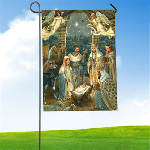 28/'/' x 40/'/' Garden Flag Yard Banner Christmas Party Outdoor Indoor House Decor