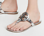 NIB-Tory-Burch-Miller-Leather-Sandals-Mirror-Gold-Silver-Tan-US-6-9-5-AUTHENTC thumbnail 7