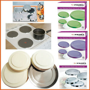 4-x-Hob-Cover-Plates-Stainless-Steel-Solid-Colours-Metal-Electric-Ring-Protector