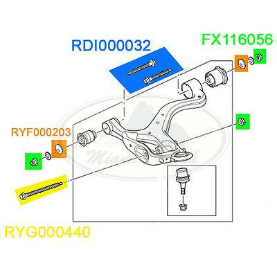 LAND ROVER FRONT SUSPENSION LOWER ARM BOLT & WASHER SET LR3 LR4 RRS MR0122