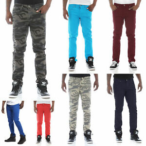 Details about Royal Blue Men's Colored Skinny Stretch Twill Jean Pant