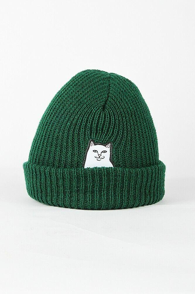 RIPNDIP Lord Nermal Rib Beanie Forrest - Mütze, Wintermütze, Strickmütze (grün)