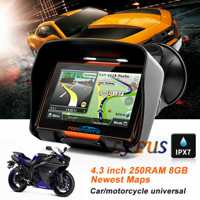 "5/"" Motorcycle GPS SAT NAV Navigation Navigator 16GB Touch Screen Waterproof IPX7"
