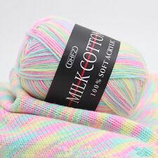 Mixed Lot 3ply 50g knitting wool DIY hand Crochet Milk soft Baby cotton Yarn