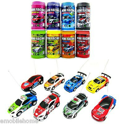 1 : 63 Coke Can Mini RC Radio Micro Racing Car Random color Delivery