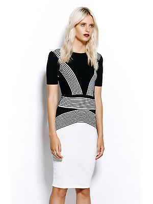 Ministry of Style by Bebe Sydney Intensity Dress - Black/White