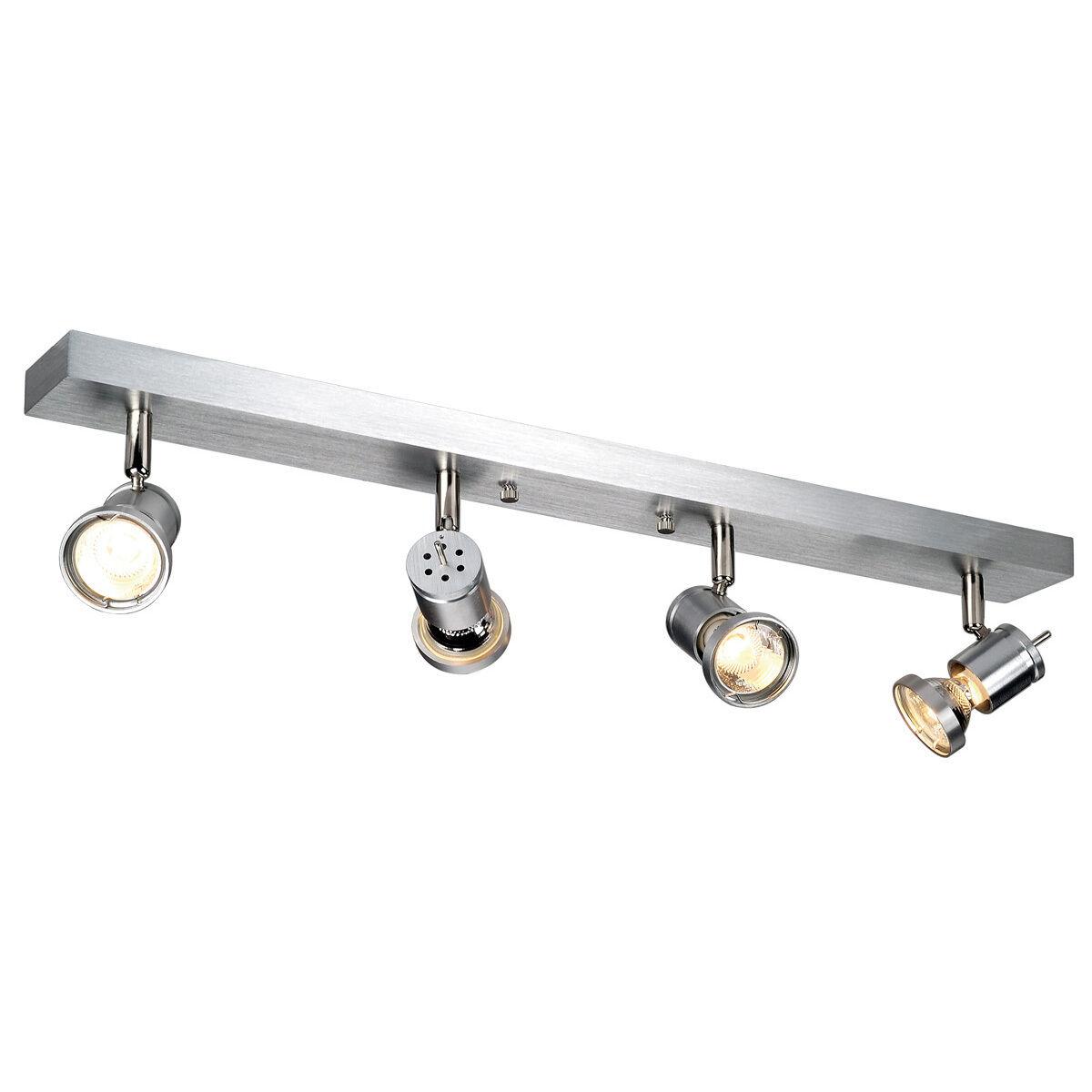 Intalite Asto IV Mur et Brossé,4x Lumière Plafond,Aluminium Brossé,4x et GU10,Maximum 4x 75W 8e6f66