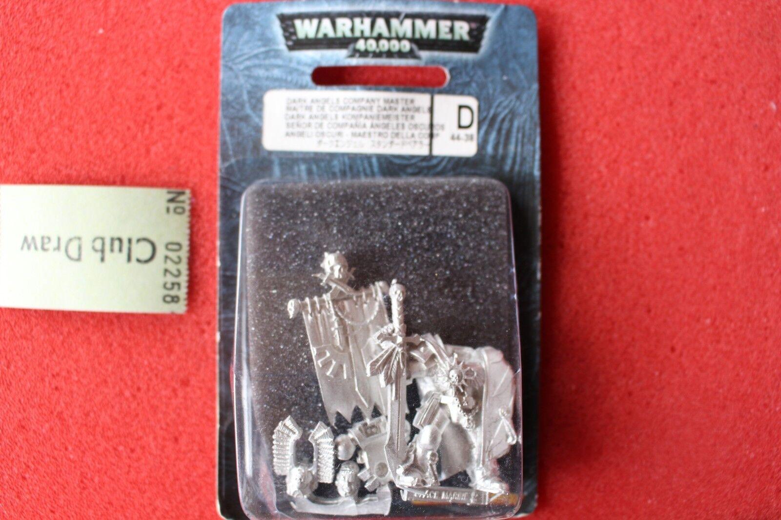 Games Workshop Warhammer 40k Dark Angels Company Chapter Master Metal Captain GW