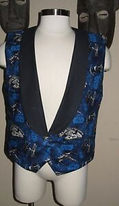 Vest 9 Men's Tuxedo Sizes In Print Wars Stars Blue Falcon Millennium FqxwZzz40