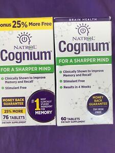Best Memory Supplements 2021 2 PACK Natrol Cognium for a Sharper Mind 60 Tablets EXP 6/2021+