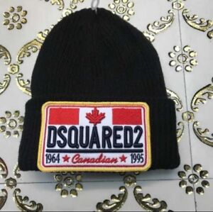 Sale-Gift-DSQUARED2-MEN-039-S-WOOL-Black-Colour-BEANIE-HAT-NEW-size-S-M