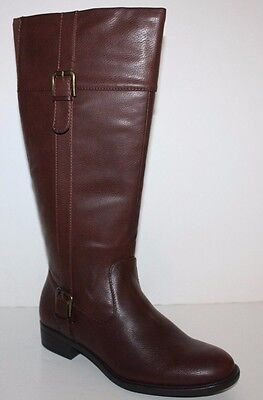 GH Bass NIB Women Josie Brown Faux Leather Riding Boots w/ Stretch