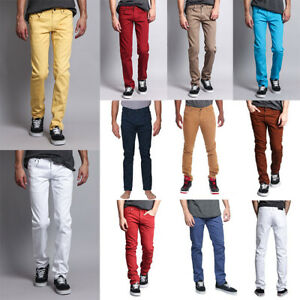 Bright Yellow Skinny jeans for Men  Cotton with Spandex Skinny Trousers Denim