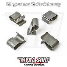 10x HALTEKLAMMER GITTERKLEMME KÜHLERGITTER BMW E30 E21 320i 325 CHEVROLET #NEU#