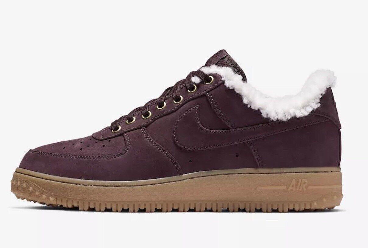 2018 Nike Air Force 1 PRM Winter Burgundy Crush Gum AF1 Low AV2874 600