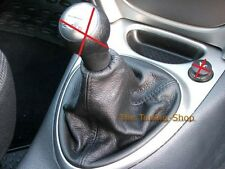 FOR CITROEN C5 2001-2007 MANUAL GEAR GAITER BLACK GENUINE LEATHER COVER NEW
