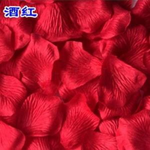 500pcs Color Wine Red Wedding Silk Rose Petals Flowers Confetti 5cm