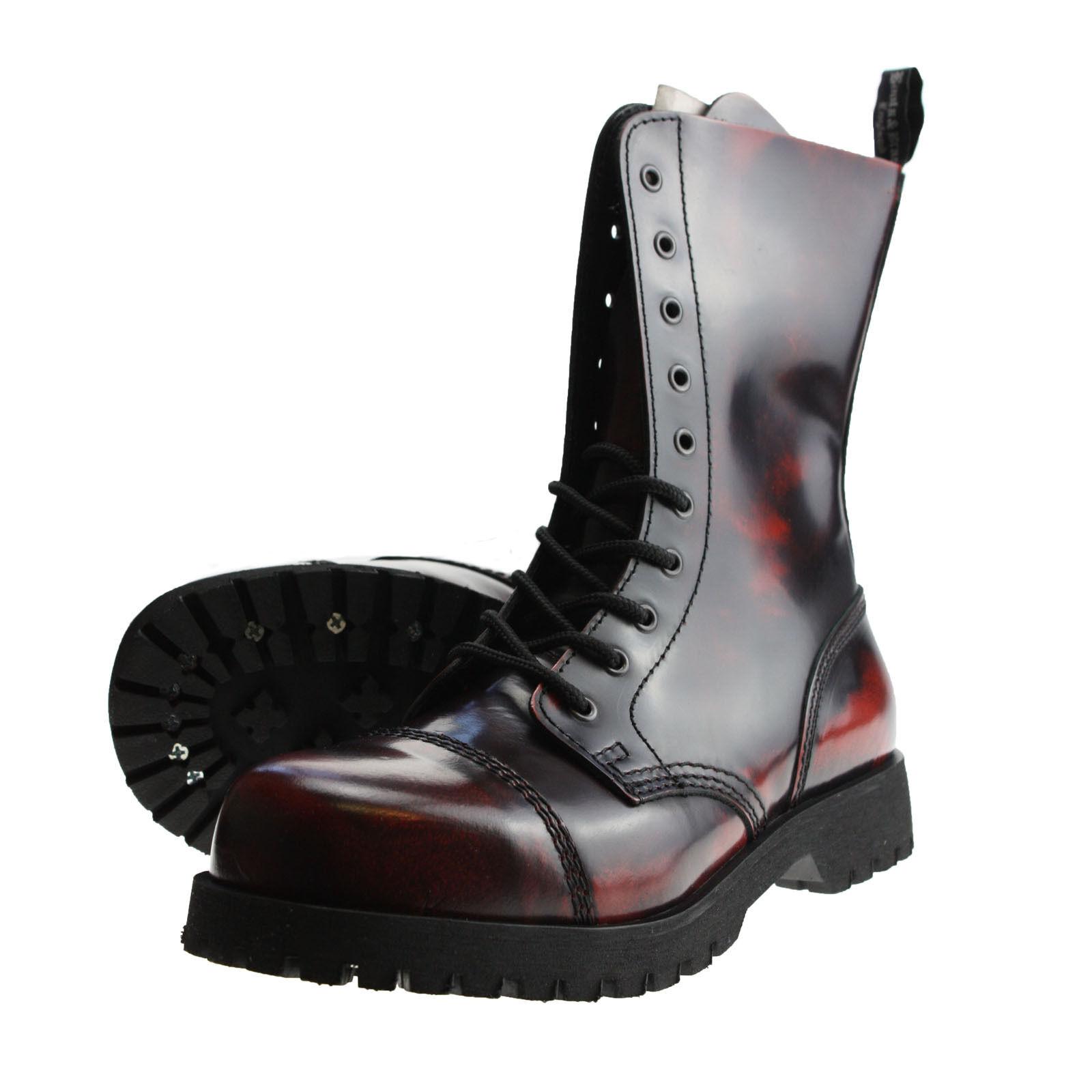 Grandes zapatos con descuento Botas y Tirantes campo de 10 hoyos Burdeos frotar apagado Saltador Botas Rangers
