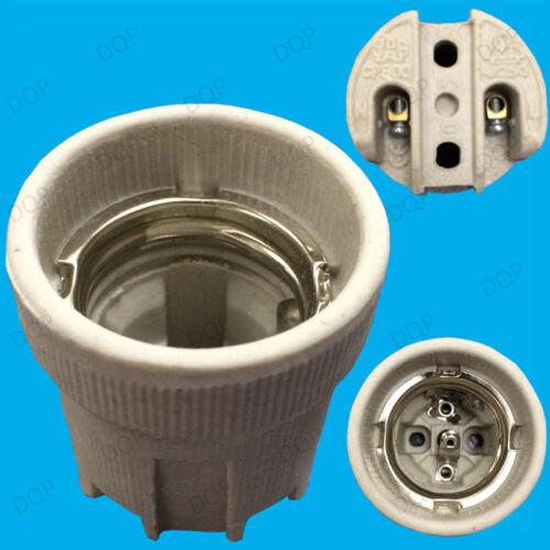 20x E27 ES or E14 SES Ceramic Porcelain Screw Lamp Holders for Heat Bulb 1000W