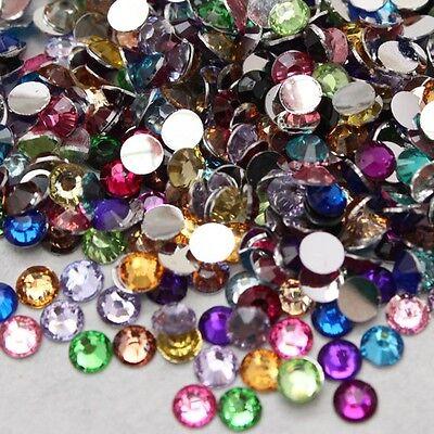 1000/5000pc ss6-ss30 flatback crystal resin rhinestones Gem Nail Art beads mixed