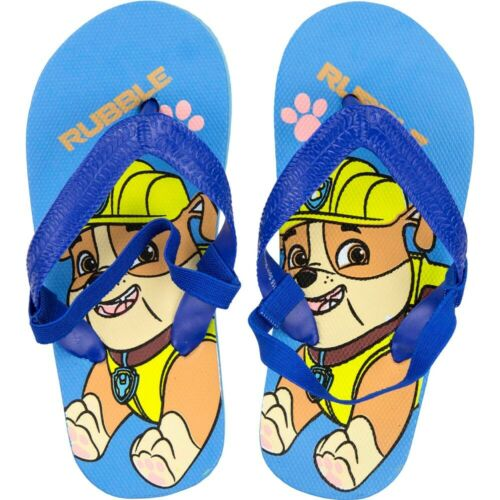 Boys Summer Flip Flops Paw Patrol Shoes Holidays Pool Beach Size 22-27 EU 5-9 UK