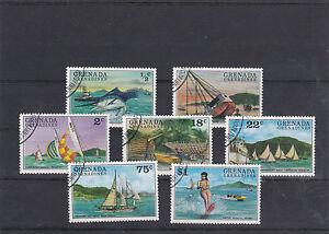 GRENADE-GRENADINES-1976-TOURISME-NAUTIQUE-7-TIMBRES-OBLITERES-YT-139-A-145
