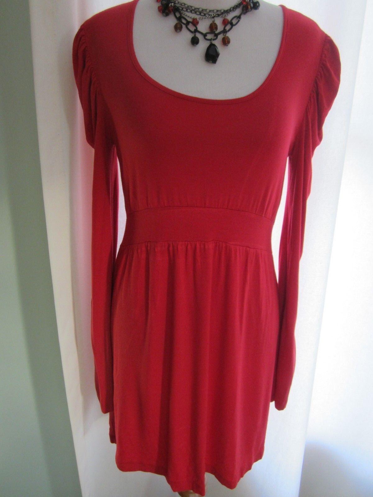0b287d044846 D2 D2 D2 Design History Red Long Sleeves Dress Size M 5d0a2d ...