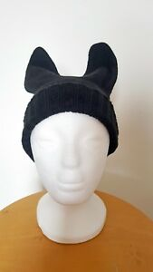 Beanie Hat Bear Ears Cat Dog Funny Festival hat Knitted Horns Cool ... d6a87b404ab