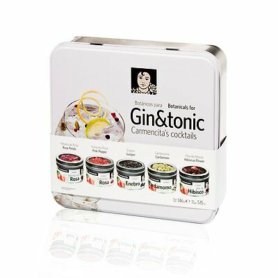 Spices & Seasonings For Gin & Tonic Bartender Kit Tin Gift Box With Recipes