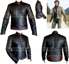 X-MEN WOLVERINE STYLE MENS BLK/BRN FASHION HIGH QUALITYANALENE  LEATHER JACKET