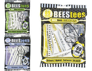 3-x-BEES-GOLF-WOODEN-TEES-53MM-69MM-83MM-ONLY-4-49