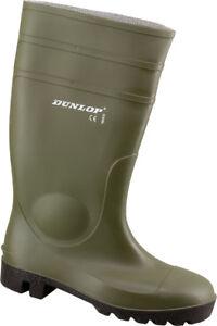 Dunlop Protomaster Grün S5 Gr 45 Gummi Stiefel Freizeit Garten
