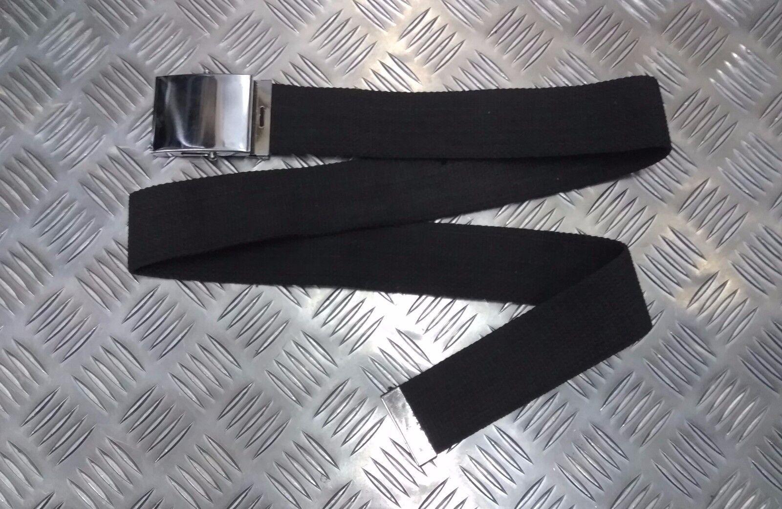 Militär Stil 5.1cm Leinen Web Rolle Schnalle Parade Hose Belt Unisex Alle Farben