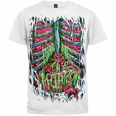 New: BRING ME THE HORIZON - Spill My Guts Slim-Fit White Concert T-Shirt [PA]
