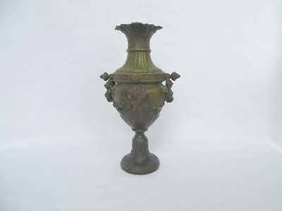 Antiker Lampenfuss Für Petroleumlampe O.ä. Um 1880, 900 Gramm, Wohl Bronze üBerlegene (In) QualitäT