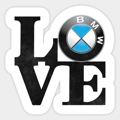 BMW Love Sign Logo JDM Lifestyle Vinyl Decal Decor Laptop Car Bumper Sticker