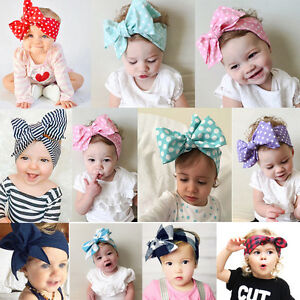 Kids-Girl-Baby-Toddler-Bow-Headband-Hair-Band-Accessories-Headwear-Head-Wrap