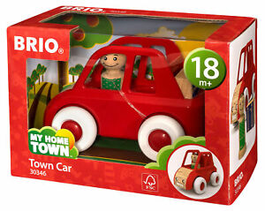 30346-BRIO-My-Home-Town-Town-Wooden-Red-Car-Toy-Toddler-Infants-18-Months-New