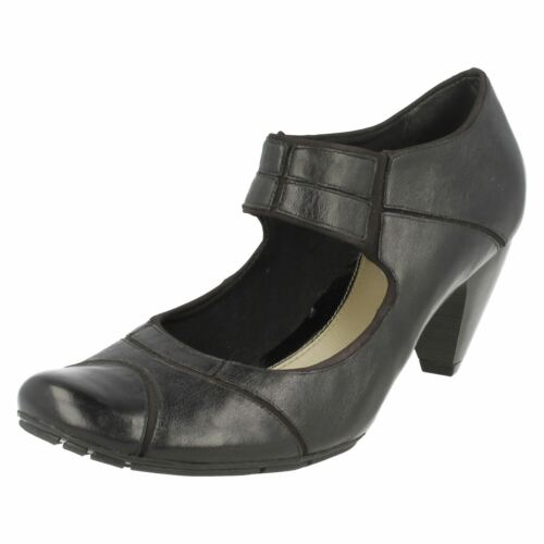 Ladies Clarks Black Softwear Shoes 'any Place' Smart zOWznR