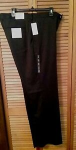 New-75-tag-PERRY-ELLIS-PORTFOLIO-Dark-Gray-Black-42-x-29-DRESS-PANT-NWT