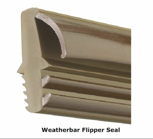 Weather Bar Door Threshold with Draught Excluder Rain Seal for Wood Timber.