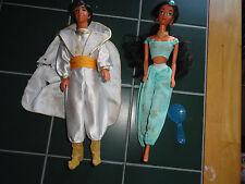 ~Vintage~ Disney Aladdin & Jasmin Barbie Dolls by Mattel 1992!!!