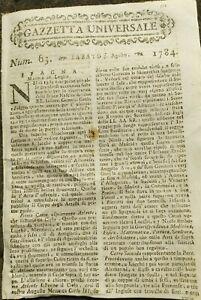 1784-GAZZETTA-UNIVERSALE-SPAGNA-MASCHERATA-PER-NASCITA-INFANTI-CARLO-E-FILIPPO